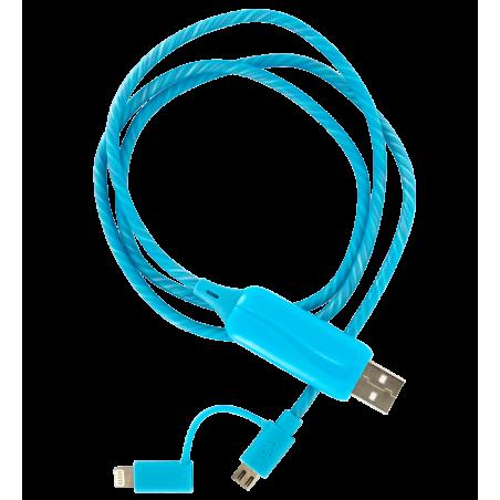 Câble lumineux 2 en 1 - Flash