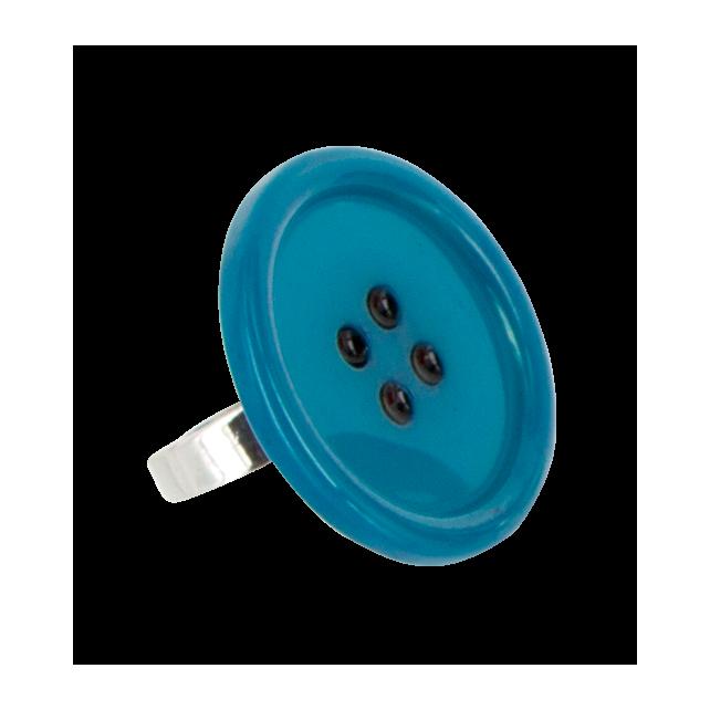 Boutons - Bague Bleu
