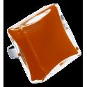 Bague en verre soufflée - Carré Giga Milk