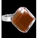 Bague en verre - Losange Nano Milk Jaune