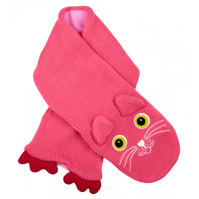 Kids Scarf - NEO - Cat Pink