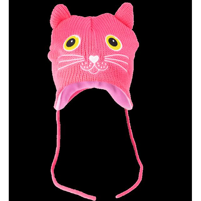 Kids Beanie - NEO Cat Pink