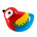 Magnetic bird for paperclips - Piu Piu