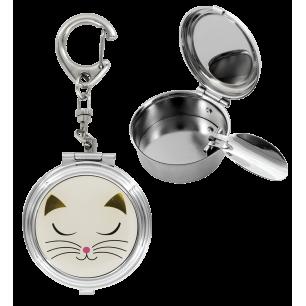 Pocket ashtray - Cend'Art - White Cat