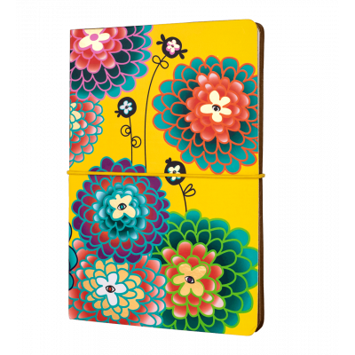 A5 double notebook - Smart note - Dahlia