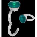 Gancio appendi borsa luminoso - Diamonds Verde
