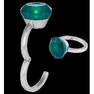 Gancio appendi borsa luminoso - Diamonds - Verde