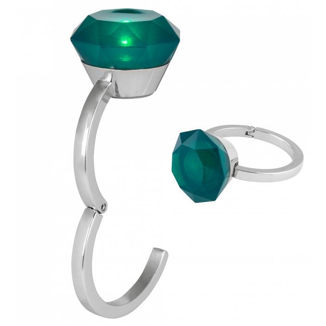 Accroche sac lumineux - Diamonds Vert