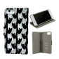Flap cover/wallet case for iPhone 6, 6S, 7 - Iwallet 2 Black Board