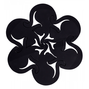 Dessous de plat - Entrechats - Noir