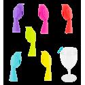 Bird Markers - Set de 6 marqueurs de verre oiseau Uccello