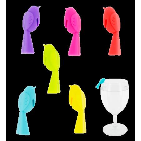 Happy Markers - Set di 6 segnabicchieri