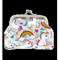 Clipurse - Porte-monnaie avec fermoir à clip Unicorn