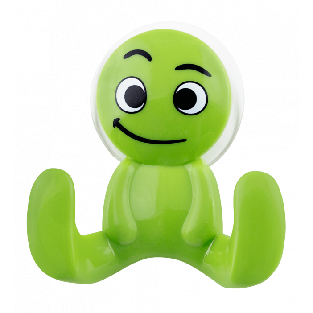 Crochet ventouse - Buddy Face Vert