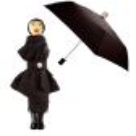 Rain Parade - Parapluie pliant Nero