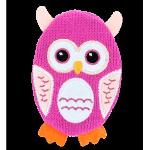Chaufferette main réutilisable - Warmly - Owl Pink
