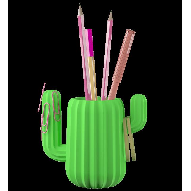 Pot à crayons aimanté - Cactus