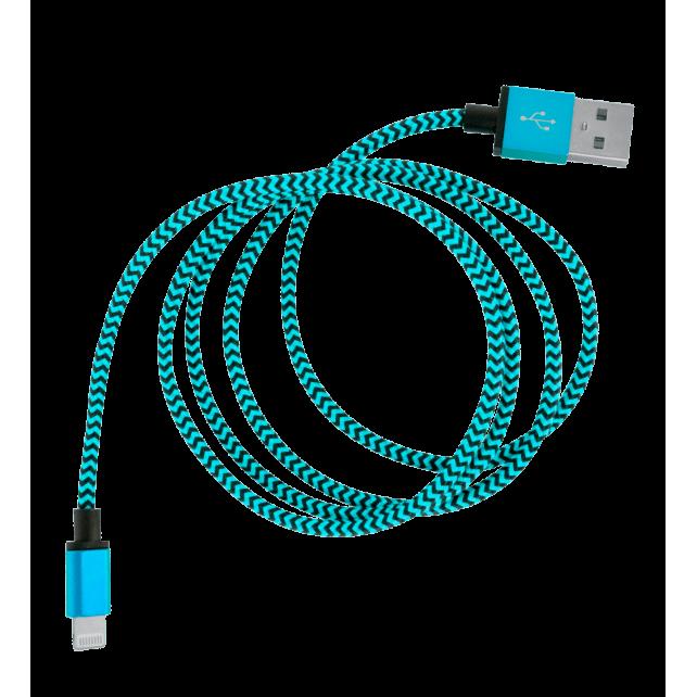 USB-Kabel für iPhone - Vintage Blau