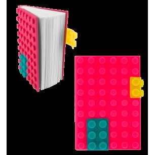 Carnet en silicone - Briques - Rose