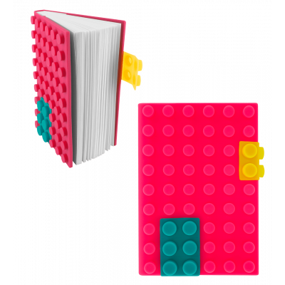 Silicone notebook - Briques - Pink