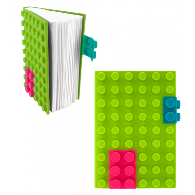 Silicone notebook - Briques - Green