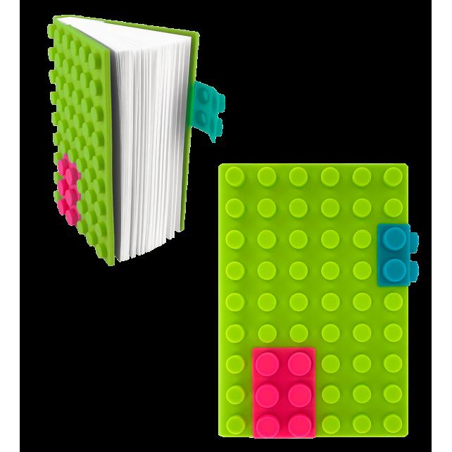 Carnet en silicone - Briques Vert