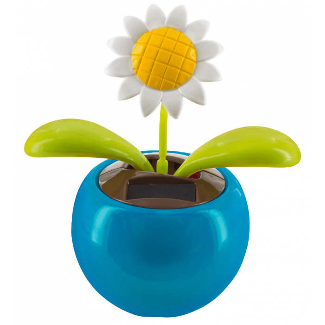 Flip flap solaire - Dancing Flowers Marguerite Bleu