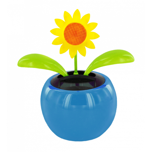 Solar-powered - Dancing Flowers Tournesol Bleu