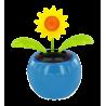 Flip flap solaire - Dancing Flowers Tournesol Bleu