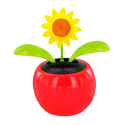 Solar-powered - Dancing Flowers Marguerite Rouge