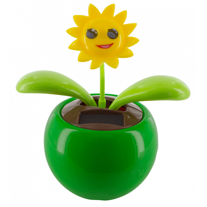 Solar-powered - Dancing Flowers Smile Vert
