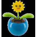 Solar-powered - Dancing Flowers Smile Bleu