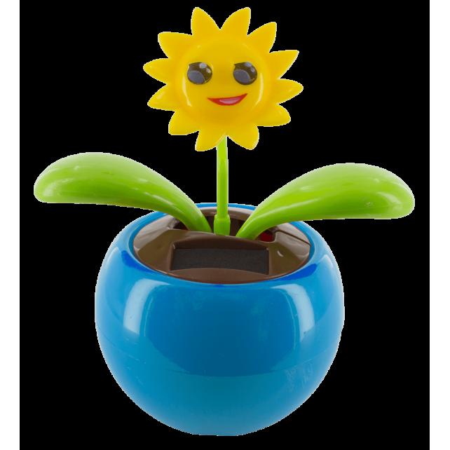 Flip flap solaire - Dancing Flowers Smile Bleu