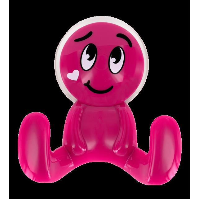 Gancio a ventosa - Buddy Face Rosa
