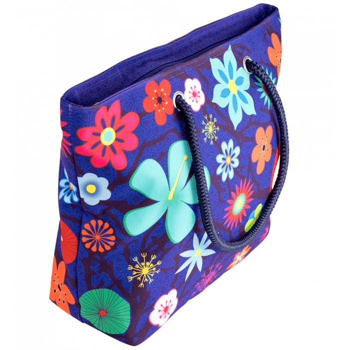 My Daily Bag - Shopping bag Blue Flower
