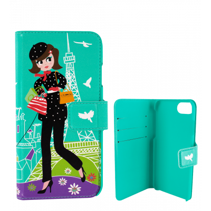 Custodia a portafoglio per iPhone 6 Plus, 7 Plus - I Wallet - Parisienne