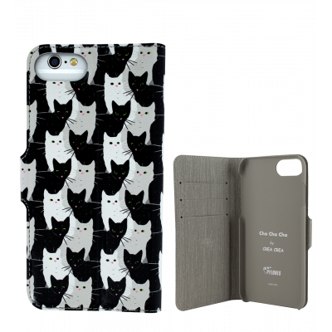 Coque à clapet pour iPhone 6 Plus, 7 Plus - Iwallet - Cha Cha Cha