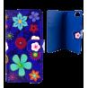 Iwallet - Coque à clapet pour iPhone 6, 6S Blue Flower
