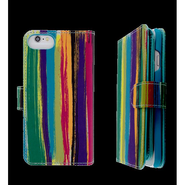 Coque et portefeuille pour iPhone 6, 6S, 7 - I Big Wallet Paint