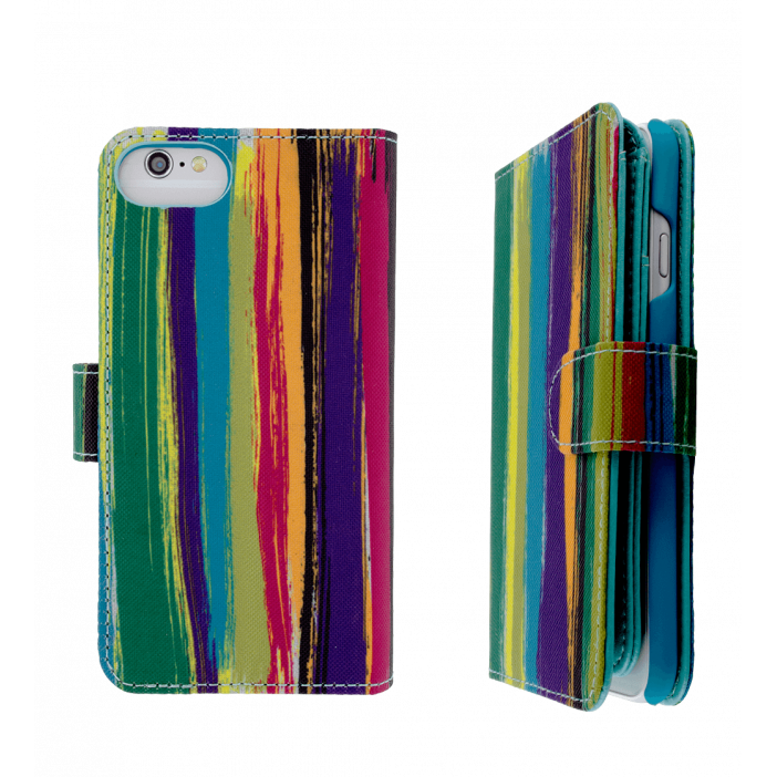 Flap cover/wallet case for iPhone 6, 6S - I Big Wallet Paint