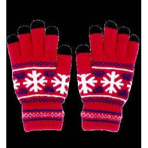 Guanti per touchscreen - Hand in glove - Rosso