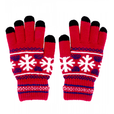 Touchscreen gloves - Hand in glove - Red