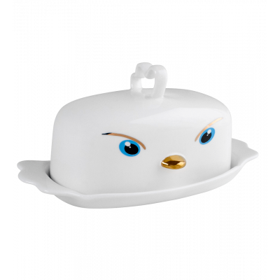 Butter dish - Butter Tweet - White