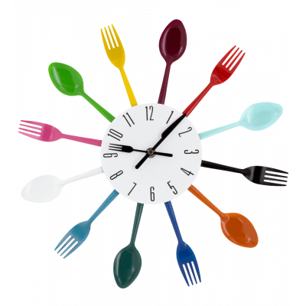 Clock - Couverts - Multicolor
