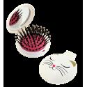 Lady Retro - Brosse à cheveux miroir 2 en 1 White Cat