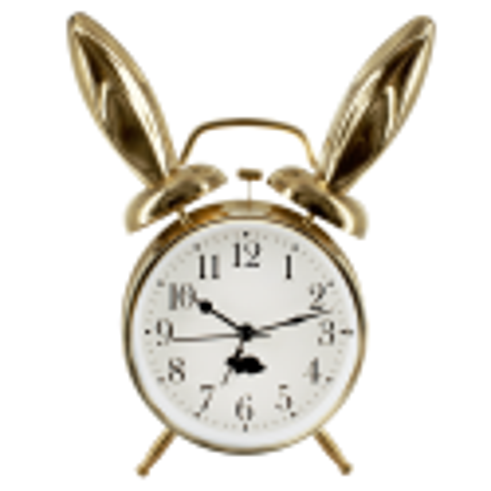 Alarm clock - Lapin doré