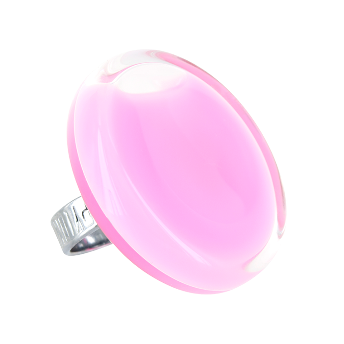 Anello in vetro - Cachou Giga Milk Bubble Gum