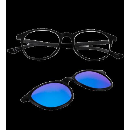 Occhiali da vista con clip solare