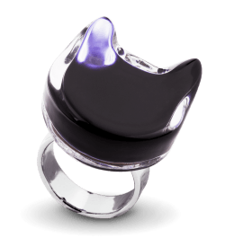 Chat Plat Milk - Glass ring