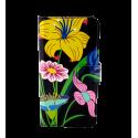Iwallet - Coque à clapet pour iPhone 6, 6S Ikebana